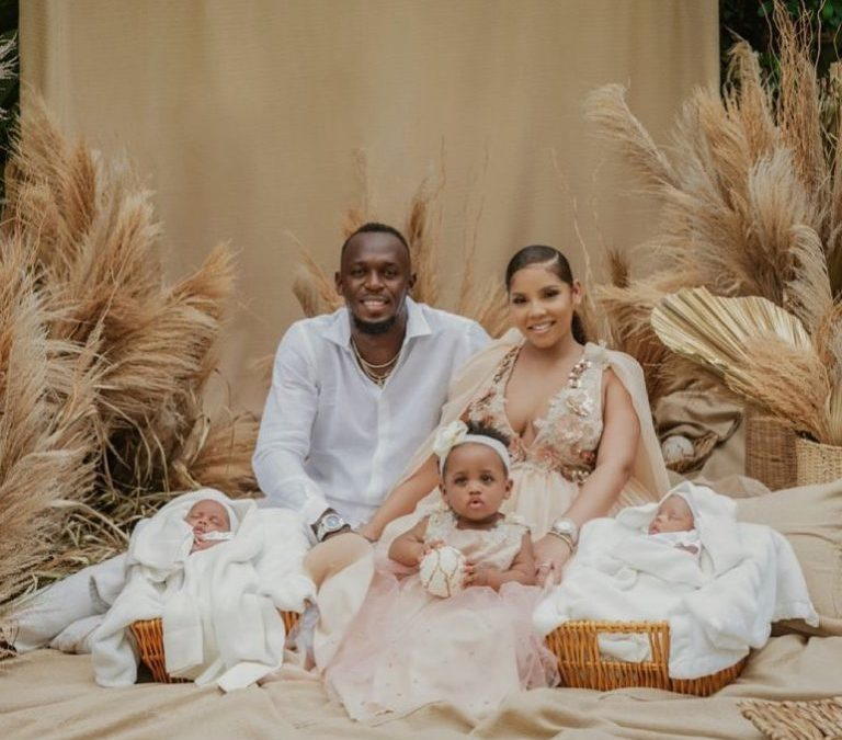 Usain Bolt shares first photo of his twin sons
